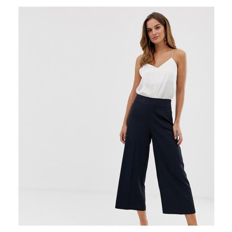 Oasis crop wide leg trousers in navy