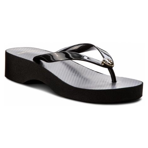 Japonki TORY BURCH - Cut-Out Wedre Flip Flop 48211 Black/Black 009