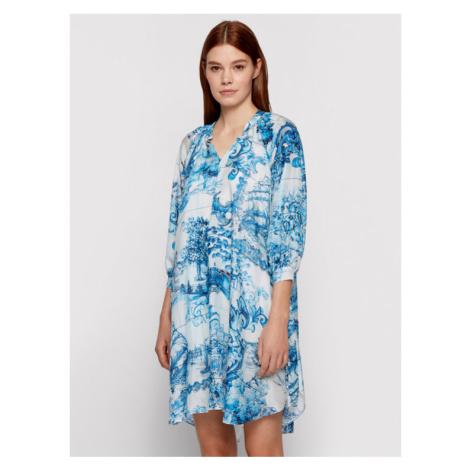 Boss Sukienka letnia Difloru 50454550 Niebieski Oversize Hugo Boss