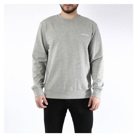 Bluza męska Carhartt WIP Script Embroidery Sweat I024678 GREY HEATHER/WHITE