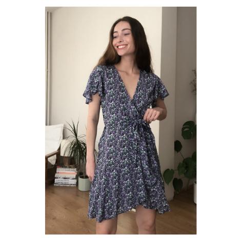 Trendyol MultiColored Beltflower Patterned Dress