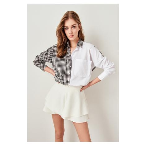 Trendyol White Checkered Shirt