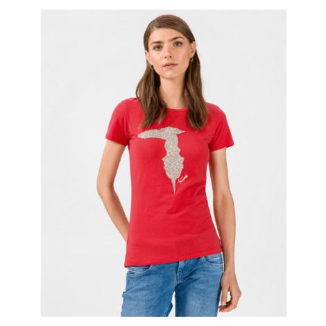 Trussardi Jeans Poppy Koszulka Czerwony