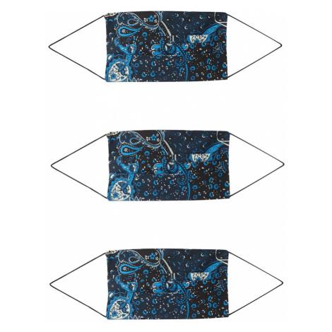 ONLY Maska z materiału '3er Pack ONLCOMMUNITY' czarny / niebieski
