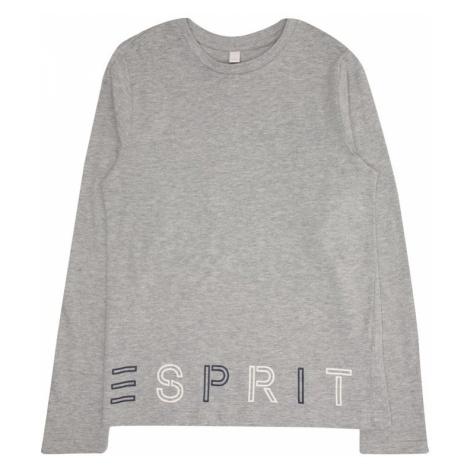 ESPRIT Koszulka niebieska noc / szary / biały