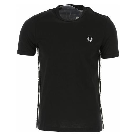 Fred Perry Koszulka dla Mężczyzn Na Wyprzedaży, czarny, Bawełna, 2019