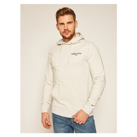 Tommy Jeans Bluza Tommy Chest Graphic DM0DM08730 Beżowy Regular Fit Tommy Hilfiger