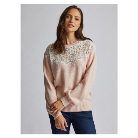 Pink sweater with lace Dorothy Perkins