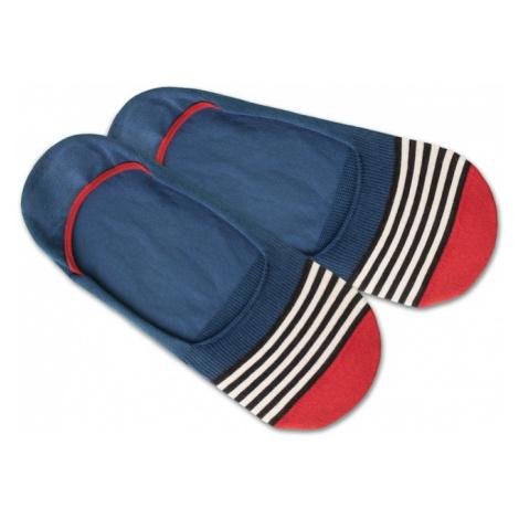 DillySocks Skarpetki stopki 'IN20-04 Hidden Basic Liner' biały / niebieski / czerwony