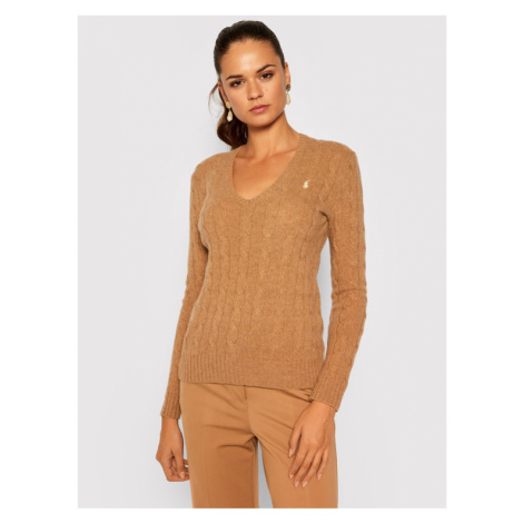 Polo Ralph Lauren Sweter Kimberly Wool/Cashmere 211508656063 Brązowy Regular Fit
