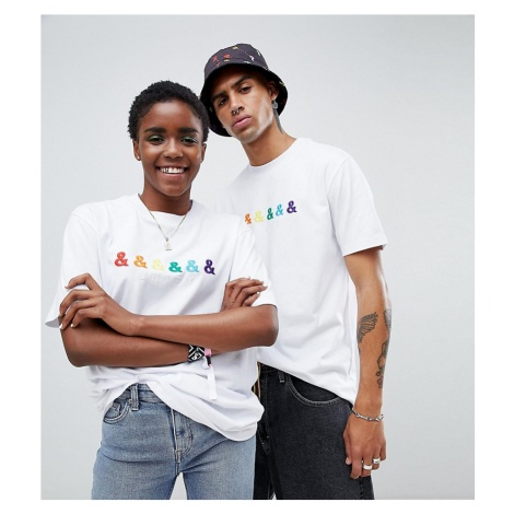 ASOS DESIGN x glaad& relaxed t-shirt with embroidery