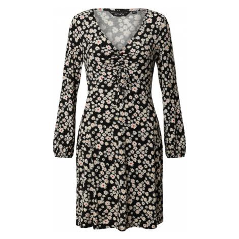 Dorothy Perkins Sukienka 'Ditsy Ruched Detail Fit & Flare Dress' czarny