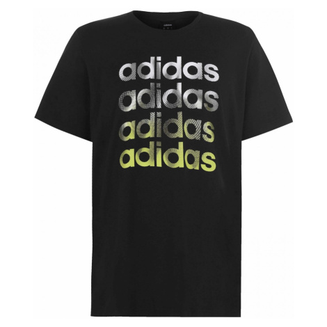 Adidas Fade Repeat Linear QT T Shirt Mens