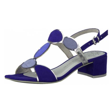 MARCO TOZZI Sandały z rzemykami niebieski / podpalany niebieski / ciemny niebieski / srebrny