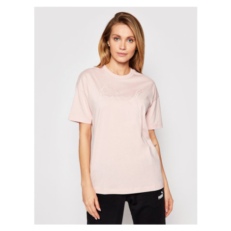Puma T-Shirt Her 585965 Różowy Relaxed Fit