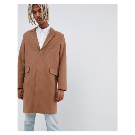 Weekday spencer overcoat camel