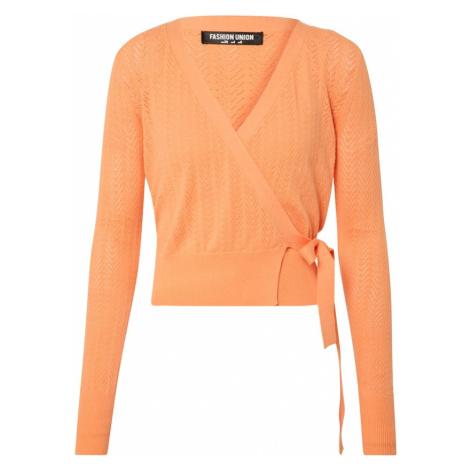 Fashion Union Kardigan 'SANDPIPER' pomarańczowy