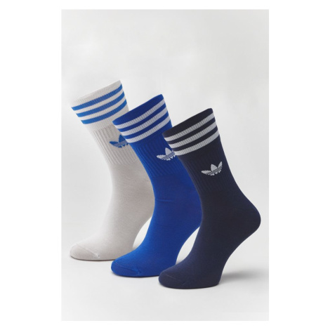 Skarpety 3Pack adidas Mid Cut Crew 395 Collegiate Navy/collegiate Royal/white