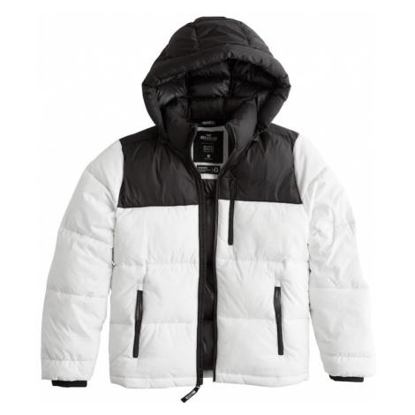 HOLLISTER Kurtka zimowa 'XM19-HW PUFFER HOOD WHITE 1CC' biały