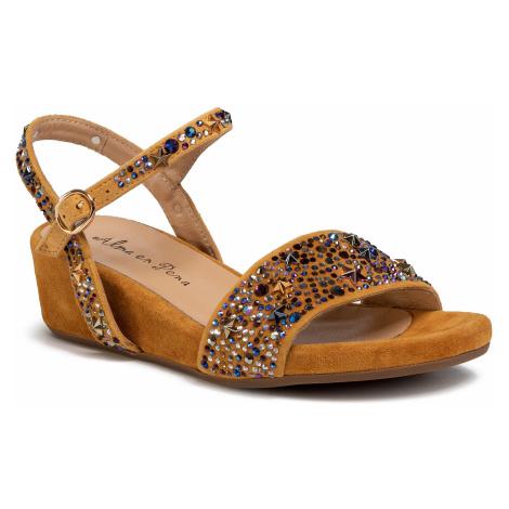 Sandały ALMA EN PENA - V20820 Suede Moustard