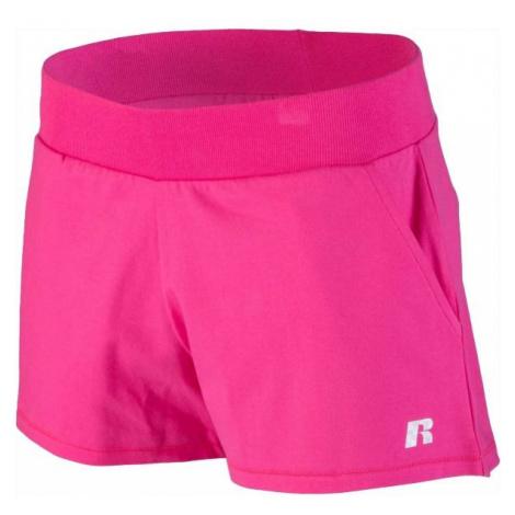 Russell Athletic SHORTS różowy M - Spodenki damskie