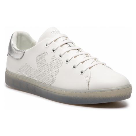 Sneakersy EMPORIO ARMANI - X3X071 XL807 N627 White/Silver
