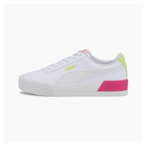 PUMA Młodzieżowe Buty Sportowe Carina Vivid, Biały