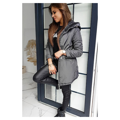 MILO women's coat dark gray TY1351 DStreet