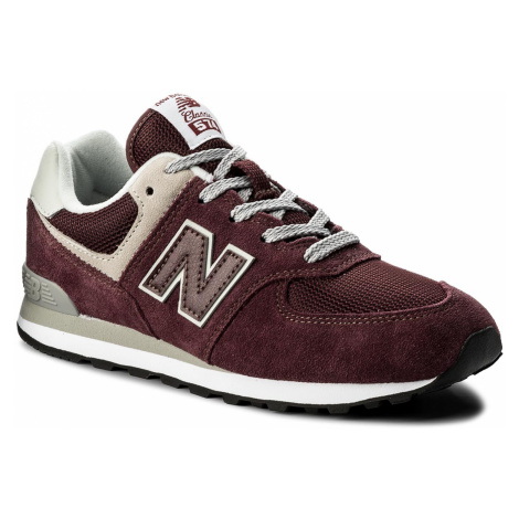 Sneakersy NEW BALANCE - GC574GB Bordowy
