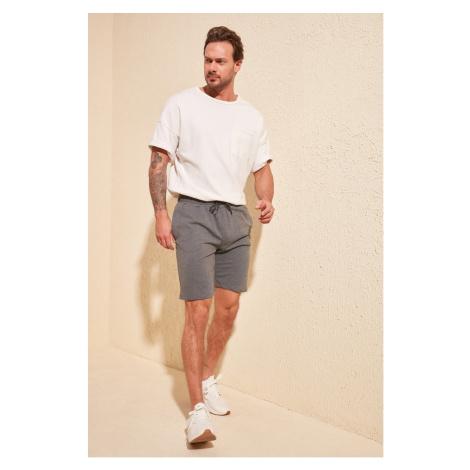Trendyol Anthracite Men's Printed Shorts & Bermuda
