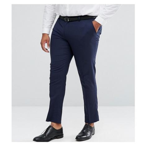 ASOS DESIGN Plus skinny suit trousers in navy
