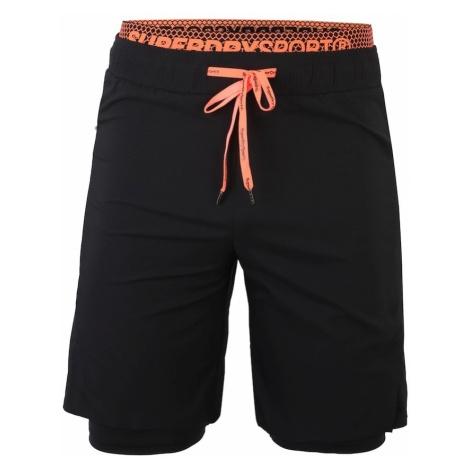 Superdry Spodnie sportowe 'ACTIVE' pomarańczowy / czarny
