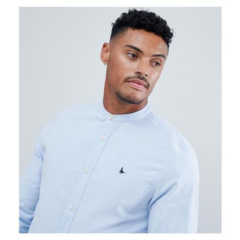 Jack Wills Heton skinny fit grandad collar shirt in sky blue Exclusive at ASOS