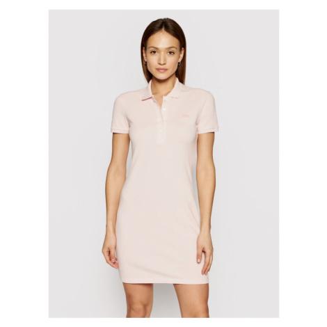 Lacoste Sukienka codzienna EF5473 Różowy Slim Fit