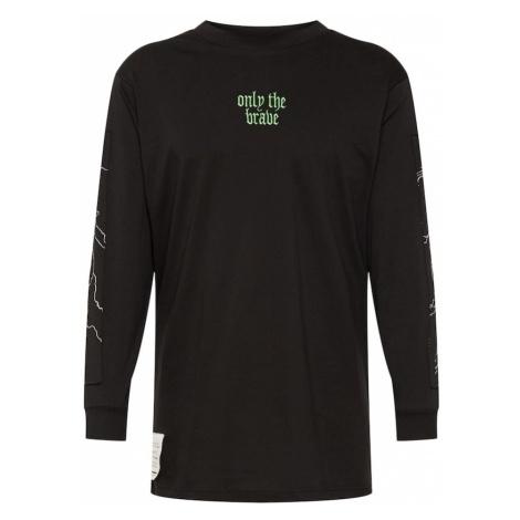 DIESEL Koszulka 'T-LUCAS-LS-Y2 HEMD' jasnoniebieski / czarny / biały