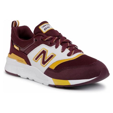 Sneakersy NEW BALANCE - GR997HVU Bordowy
