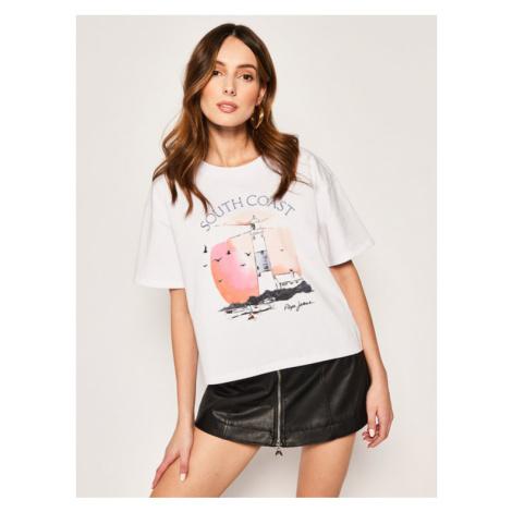 Pepe Jeans T-Shirt Francesca PL504460 Biały oversize