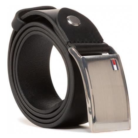 Tommy Hilfiger Pasek Męski Th Plaque Belt 3.5 Adj AM0AM01995 Czarny