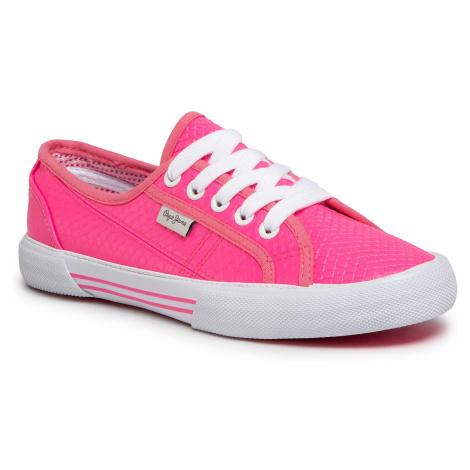 Tenisówki PEPE JEANS - Aberlady Fluor PLS30952 Neon Pink 335