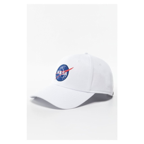 Czapka Alpha Industries Nasa Cap 09 White