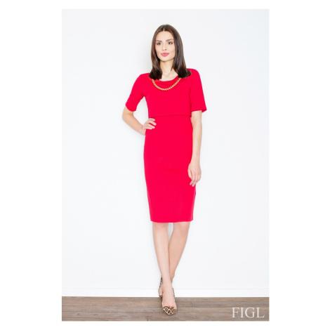 Sukienka damska M446 red Figl
