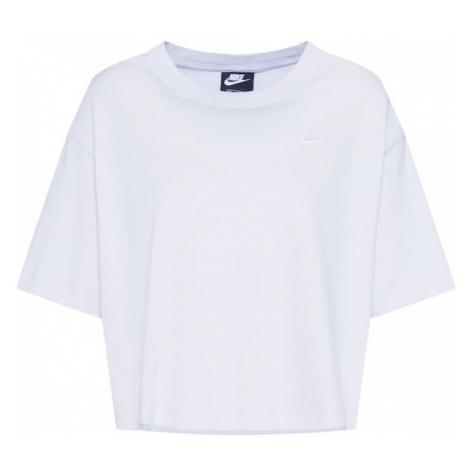 Nike Sportswear Koszulka liliowy / pastelowy fiolet / biały