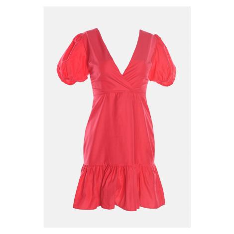 Sukienka z tyłu Trendyol Fuchsia