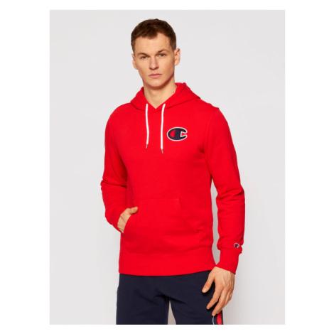 Champion Bluza Satin C Logo 214184 Czerwony Comfort Fit