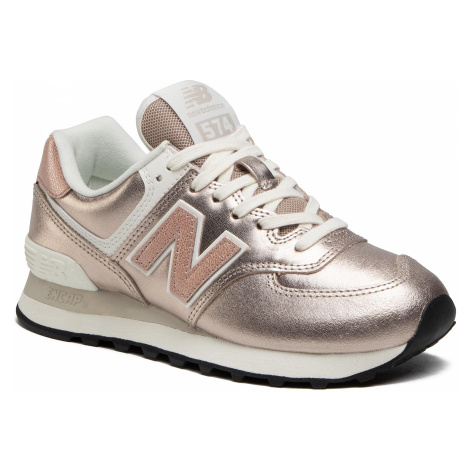 Sneakersy NEW BALANCE - WL574PM2 Złoty