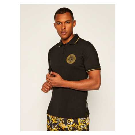 Versace Jeans Couture Polo B3GZA71T Czarny Slim Fit