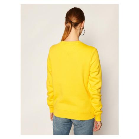 Tommy Jeans Bluza Essential Logo DW0DW08554 Żółty Regular Fit