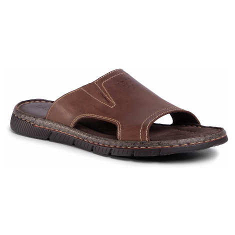 Klapki LASOCKI FOR MEN - MB-PIZZA-11 Brown
