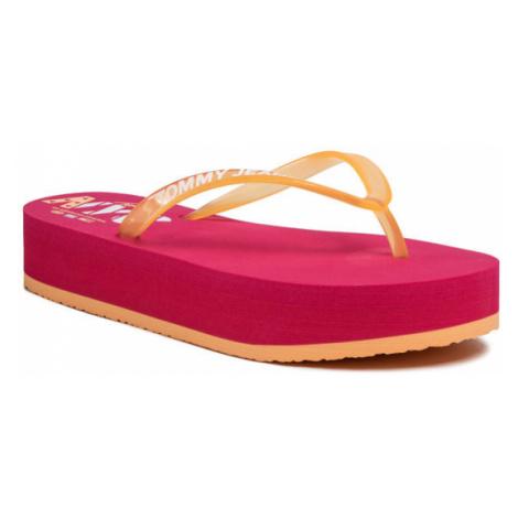 Tommy Jeans Japonki Pop Color Mid Beach Sandal EN0EN00853 Pomarańczowy Tommy Hilfiger