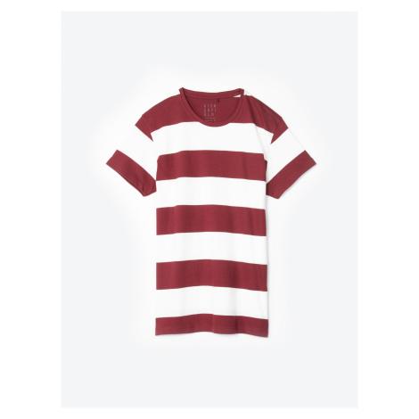 GATE Koszulka ze splotu żeberkowego w prążki